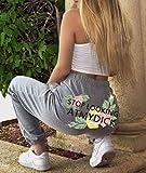 quming PantalóN Largo Jogging Deportivo Yoga,Tendencia Pantalones Deportivos Casuales con Estampado de glúteos, Pantalones de Yoga Deportivos de Moda-Gray_L