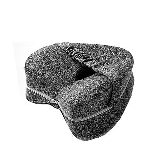 nobrands Comfy Kniekissen Memory Foam für Hüftschmerzen, Ischias, Beinschmerzen, Knieschmerzen, Gelenkschmerzen & Rückenstützkissen, Bettbeinkissen für Seitenschläfer, Grau