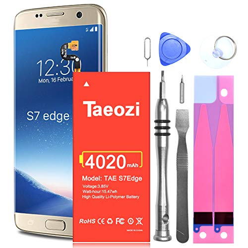 Galaxy S7 Edge Battery Replacement Upgraded 4020mAh Li-Polymer EB-BG935ABE Replacement Battery for Samsung Galaxy S7 Edge G935 G935V G935A G935T G935P with Complete Tool Kits