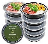FITPREP® - Runde Meal Prep Boxen im praktischen 10er Pack - für Meal Prep empfohlen