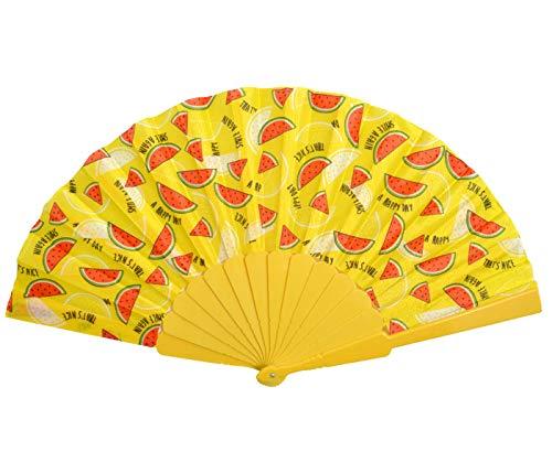 Rockabilly - Abanico de papel veneciano plegable para el verano (ancho: 42 cm)