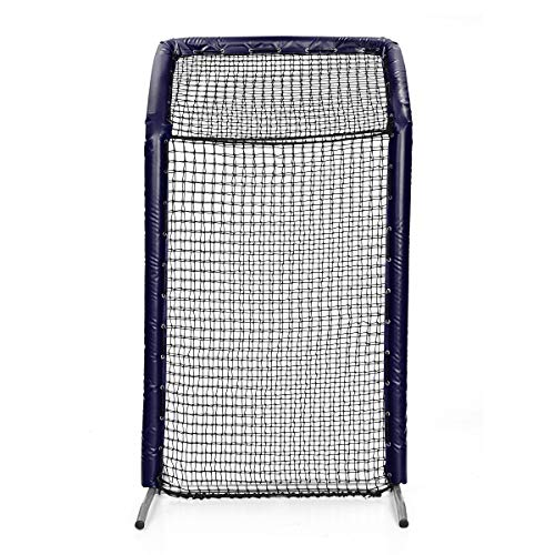 Bullet 8x4 Fast Pitch Softball Screen with OH - Navy - Padding