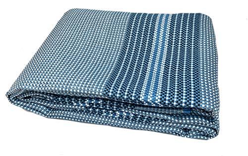 Moritz Premium Vorzeltteppich 250 x 400 metallblau cm weiße Querfäden Campingteppich Zeltteppich Wohnwagen Wohnmobil Zeltunterlage Markise Zelt Teppich Markisenteppich Zeltboden Outdoorteppich