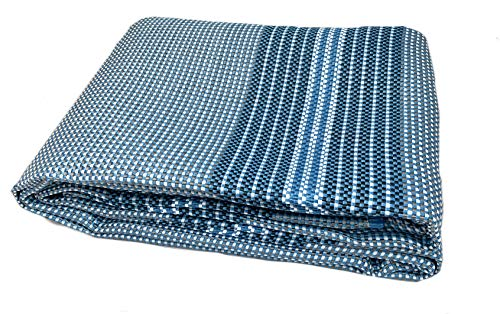 Moritz Premium - Alfombra para tienda de campaña (250 x 300 cm), color azul metálico y blanco