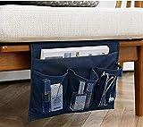 Organizzatore da comodino Caddy mensola per letto portatile borsa portaoggetti sospeso Bracciolo a Tasche Organizzatore di Sofa Poltrona per telecomando telefono Lunette libro Magazine iPad iPhone