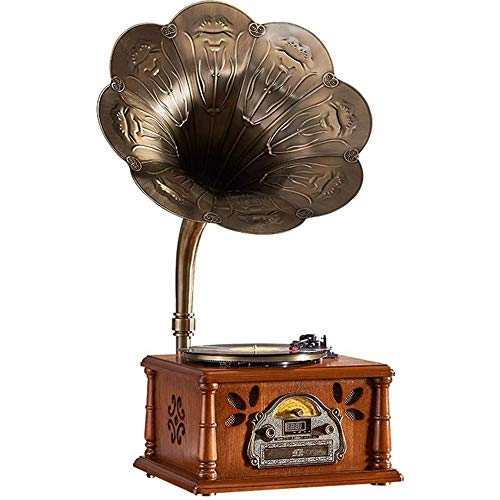 OUYA Gramofono, Jukebox con Tocadiscos, gramofono de Vinilo Retro Altavoces estéreo incorporados 33/45/78 RPM, reproducción de Disco U/Bluetooth y enfriamiento automático,01