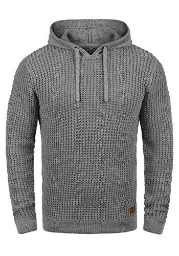 Blend Wesley Herren Winter Pullover Strickpullover Kapuzenpullover Grobstrick Pullover mit Kapuze, Größe:XXL, Farbe:Zink Mix (70815)