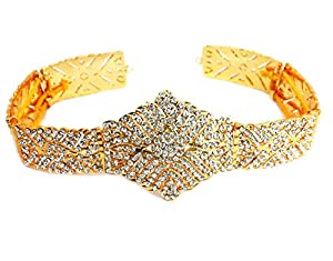 UG PRODUCTS Gold Plated Stone Waist Belt for Women