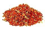 Piezas de zanahoria seco orgánico 1kg Fairtrade BIO ecológico vegetales, alimentos crudos, para batidos, sopa, ensalada y como aperitivo, aromático dulces, amarillento/ rojizos /pardusco 1000 g