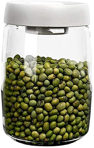 Storage Jars with Lids Jar Kitchen Food Containers Big Capacity Airtight Coffee Beans Food Container Glass Kitchen Storage Jar with Stainless Steel Lid for Storage Big and Small Food Storage Jars & Ca