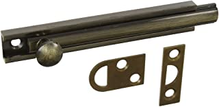 National Hardware N198-002 V1922 Flush Bolt in Antique Brass
