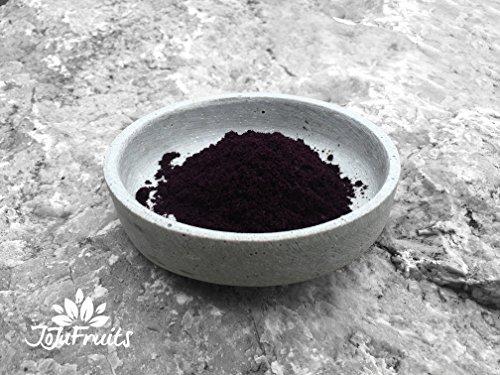 JoJu Fruits – Polvere di acai biologica (100g) (Vegano, senza glutine né lattosio) Superfood di bacche di acai