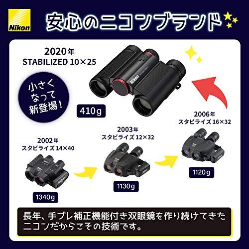 Nikon防振双眼鏡10x25STABILIZEDRED手ブレ補正付き10倍25口径レッドSTB10X25RD