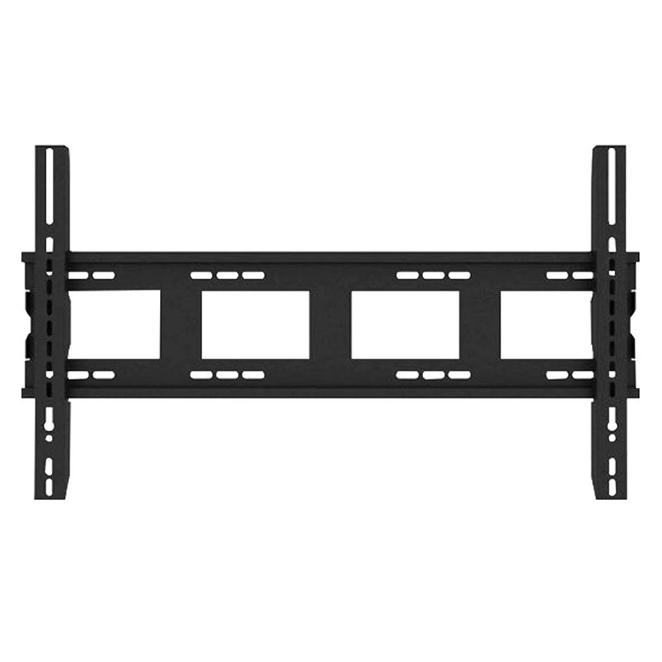 意気揚々犯人従事するテレビ台 テレビウォールマウントブラケットのための最もLED LCDフラットスクリーンフィット42から84インチのテレビウォールブラケット テレビ壁掛け用部品 (色 : Black, Size : 42-84 inches)