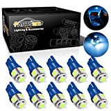 Partsam T10 194 168 LED Light Interior Dome Map Trunk Cargo Footwell Replacement Bulb Lamp Ice Blue 10PCS