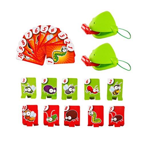 TOYANDONA Fangwanzen Spiel Tic Tac Zunge Fangwanzen Spiel Essen Schädling Spielkarte Lustige Desktop-Brettspiele für Kinder Familien Interaktion Spielzeug