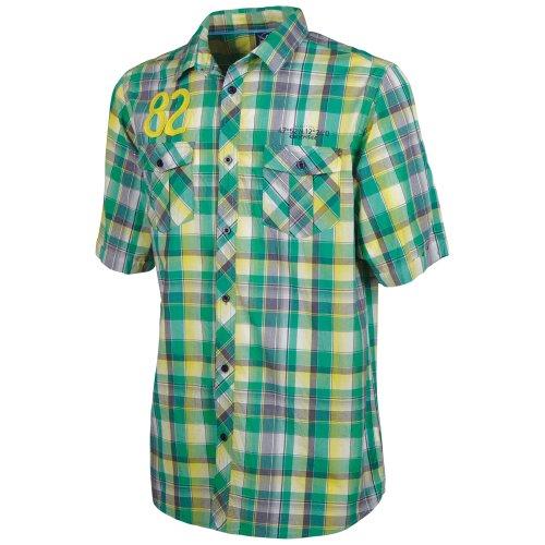 Chiemsee - Camicia da Uomo Slim, Modello Geronimo, Multicolore (Check Blazing), L
