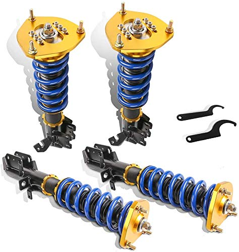 MOSTPLUS Coilovers Struts Compatible for AE92-AE111 E100 E110 AE111 1988-1999 Toyota Corolla Adjustable Height Suspensions Shock Struts Kits (Set of 4)