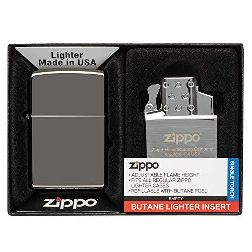 Zippo Lighter & Single Butane Insert Gift Set