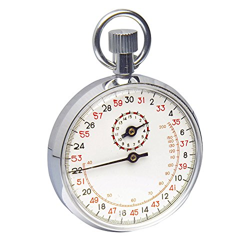 SP Bel-Art, H-B DURAC Analog Copper Chromium Plated Stopwatch; 15 Minute, 1/10 Second Intervals (B61700-5000)