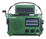 Kaito KA500GRN 5-Way Powered Emergency AM/FM/SW Weather Alert Radio, Green