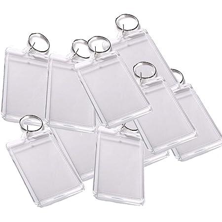 Pc3721 92033 Schlüsselanhänger Für Foto Mit 50 X 35 Mm Transparent 25 Stücke Küche Haushalt