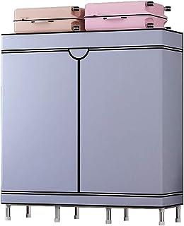 HWG Penderie Tissu Armoire Tissu Portable Tuyau en Acier De 19 Mm D'épaisseur Facile à Assembler, pour Vestiaire, Chambre,...