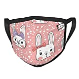 Qiongtmt Face Cover,Cute Rabbit Baby Girl Design,Balaclava Unisex Reusable Windproof Anti Dust Mouth Bandanas Outdoor Camping Motorcycle Running