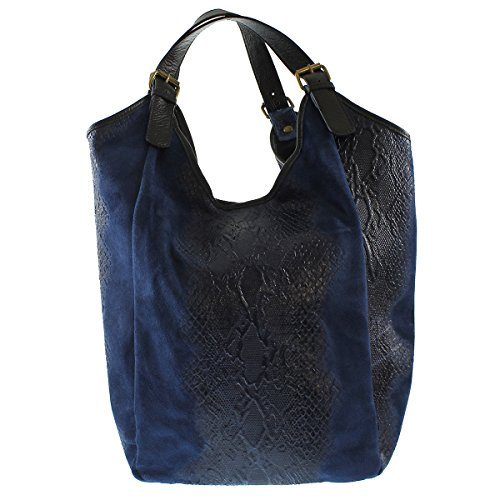 Chicca Borse 80011 Borsa Tote, 46 cm, Blu
