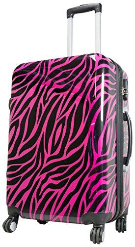 Koffer M Klein Zebra Pink Schwarz 55 cm Hartschale Bord Gepäck Trolley Bowatex