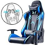 GTPLAYER Gaming Stuhl Bürostuhl Gamer Ergonomischer Stuhl Einstellbare Armlehne Einteiliger Stahlrahmen Einstellbarer Neigungswinkel Blau - 4