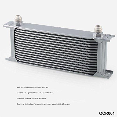 Zantec Enfriador, Radiador de Aceite de motor de transmisión automática para Motor Universal-16Filas AN-10AN