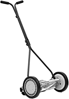 Great States Corporation 16 in. 5-Blade Walk-Behind Non-Electric Manual Push Reel Lawn Mower with Bonus Husky Steel Precision File Set with Storage Case (6-Piece)