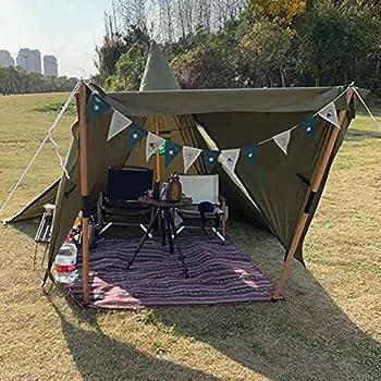 JTYX Tipi Tentes Chaudes Tentes Extérieures Tipi avec Trou de Poêle Étanche Famille Pyramide Tente Camping Randonnée Randonnée Alpinisme Abri Chauffé
