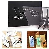【𝐍𝐞𝒘 𝐘𝐞𝐚𝐫𝐬 𝐆𝐢𝐟𝐭𝐬】ポータブル光学製図プロジェクタートレースボードミラーコピーパッドDIYスケッチ絵画テーブルデスクツール学生へのギフト大人アーティスト初心者