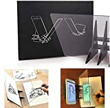 wosume Proyector de Dibujo óptico portátil Tablero de Seguimiento Espejo Copia Pad DIY Sketch Pintura Mesa Herramientas de Escritorio Regalo para Estudiantes Adultos Artistas Principiantes