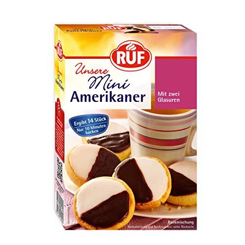 RUF Mini-Amerikaner mit Duo-Glasur Zitrone und Schokolade für 14 Stück, 8er Pack (8 x 290 g)