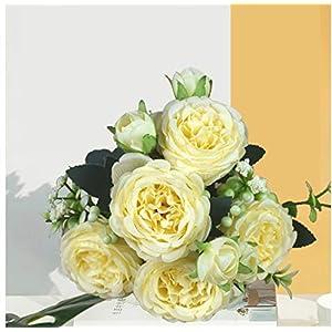 Silk Flower Arrangements Artificial Peony Simulation Azalea, Rose, Wedding Home Decoration, Fake Flower Rose