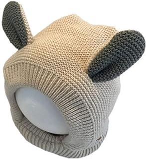 JJSPP Winter children's woollen cap baby hat ear cap knitted hat for boys and girls with warm wool cap baby cap