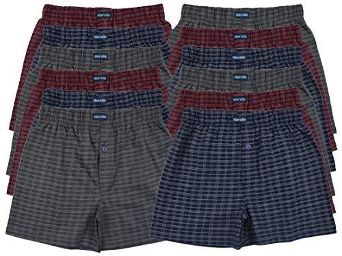 MioRalini 12 Boxershort Bedruckte Baumwolle Artikel: 12 Stueck mit Eingriff Set10, Groesse: XL-7
