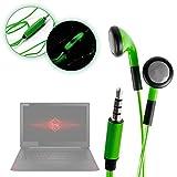 DURAGADGET Auriculares In-Ear con Luz LED Verde para Portátil HP 15-bw026ns, HP 15-bs068ns, HP 15-cb012ns, HP Notebook 15-bs091ns, HP Omen 15-ce015ns, HP OMEN 15-ce026ns