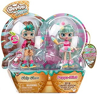 Shopkins Shoppies Peppa Mint & Chip Choc Double Scoop Delight Exclusive Doll 2-Pack