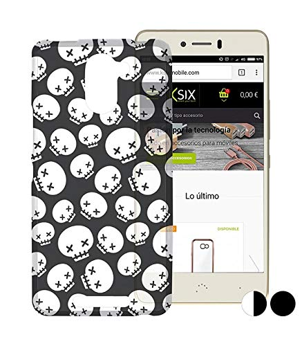 Ksix B0346FTP01 Funda para teléfono móvil 12,7 cm (5') Negro - Fundas para teléfonos móviles (Funda, BQ, Aquaris U Plus, 12,7 cm (5'), Negro)