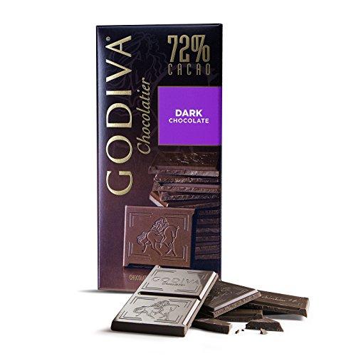Godiva Tafel Dunkle Schokolade 72%, 5er Pack (5 x 100 g)