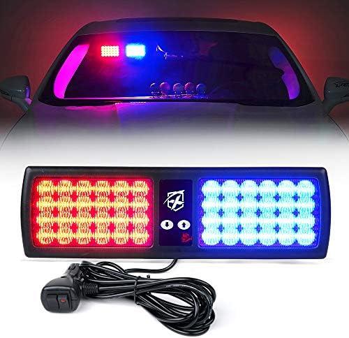Upgrade Xprite Red Blue LED Visor Strobe Flashing Lights Interior Windshield Sunshield Emergency product image