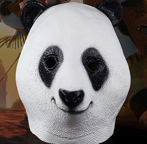 tytlmask Máscara Látex Pelucas Panda Gigante,Máscara Cabeza Panda Encantadora China,Máscara Panda Cosplay Animales,para Fiestas Disfraces,Regalos,Carnaval,Navidad,Pascua,Halloween