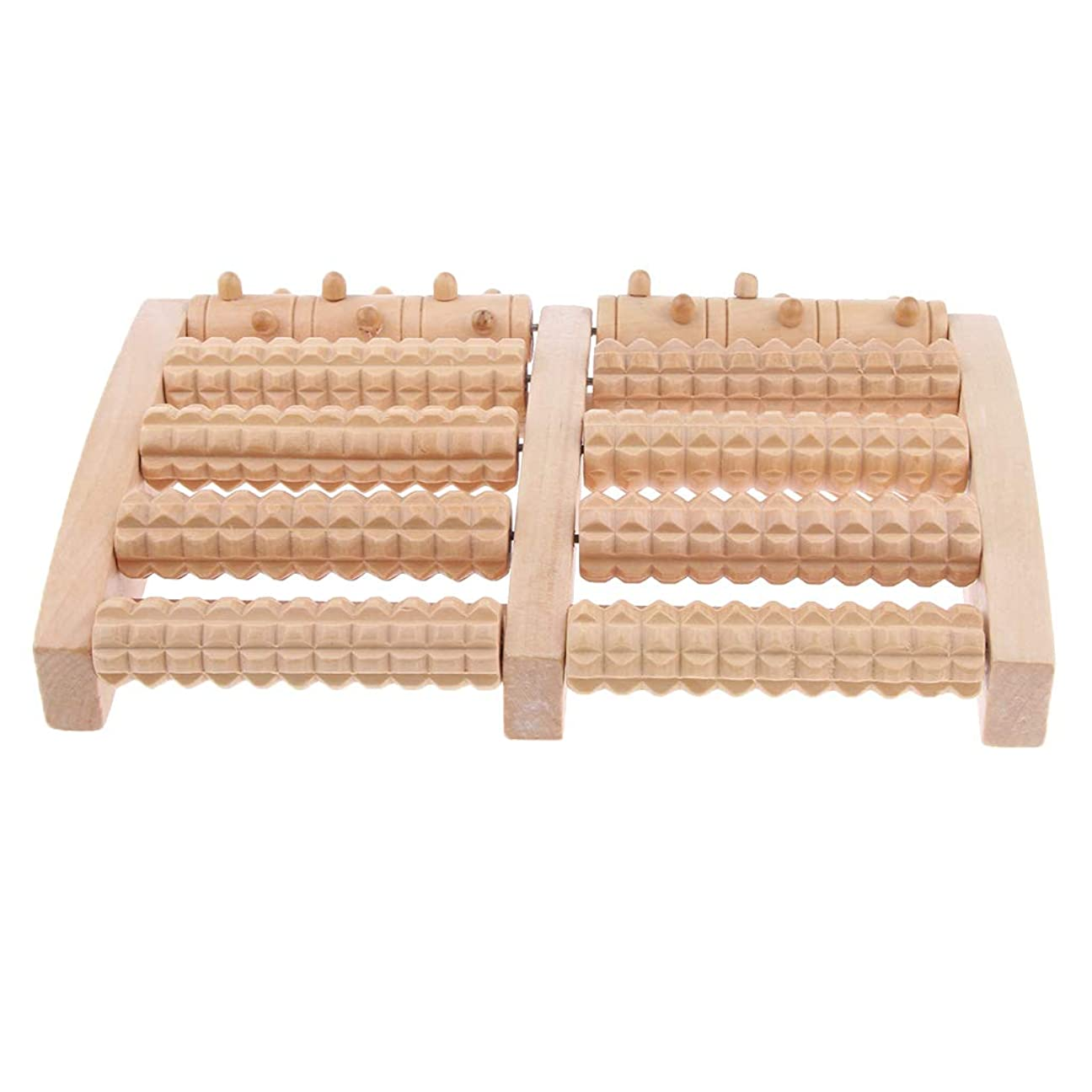 昇進リズムハイライトD DOLITY マッサージローラー 工芸 自然木製 足踏み フットローラー ツボ押し リラックス 健康器具 2種選ぶ - 約27x16.4x3.8cm, 27cm