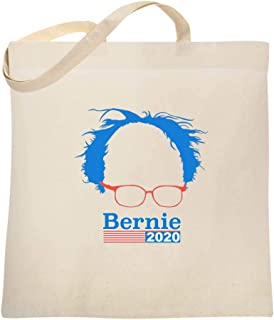 Bernie Sanders 2020 Hair and Glasses Campaign Large Canvas Tote Bag Women