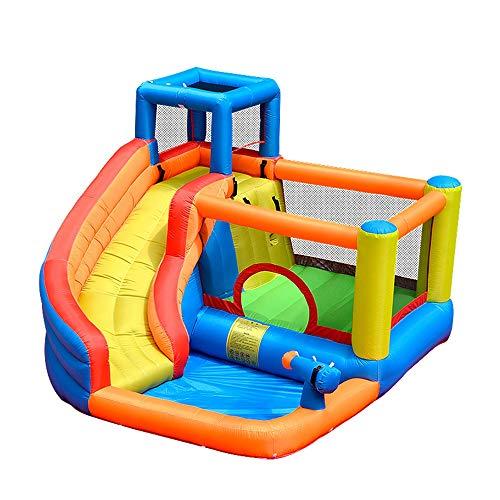TXOZ [Update Inflatable Bouncing Room Castle Children's Ball Pool Slide, Rock Climbing, Trampoline, Water Gun Eco-friendly Nylon Cloth, Home Backyard Bodyguard 280 * 320 * 210cm