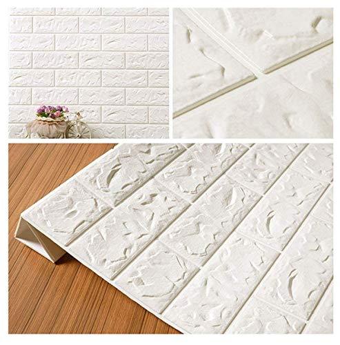 3d tapeten 3d effekt wohnzimmer Panel-Aufkleber 3D Brick Wallpaper, PE-Schaum-selbstklebende 3D-Wand-Aufkleber Tapete Geprägte Brick Keramik-Fliese Steinwandpaneele Abziehbilder Für Schlafzimmer Küche